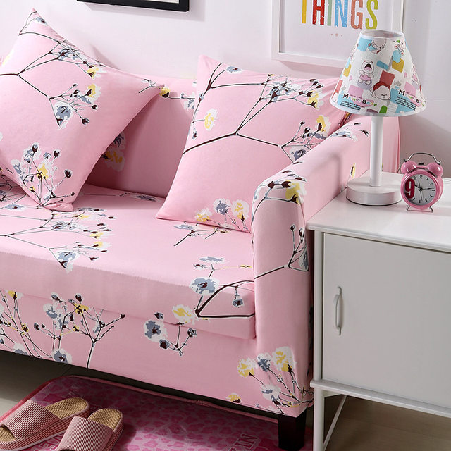 Online Shop Floral Printing Stretch Sofa Cover Elastic Couch Cover ...