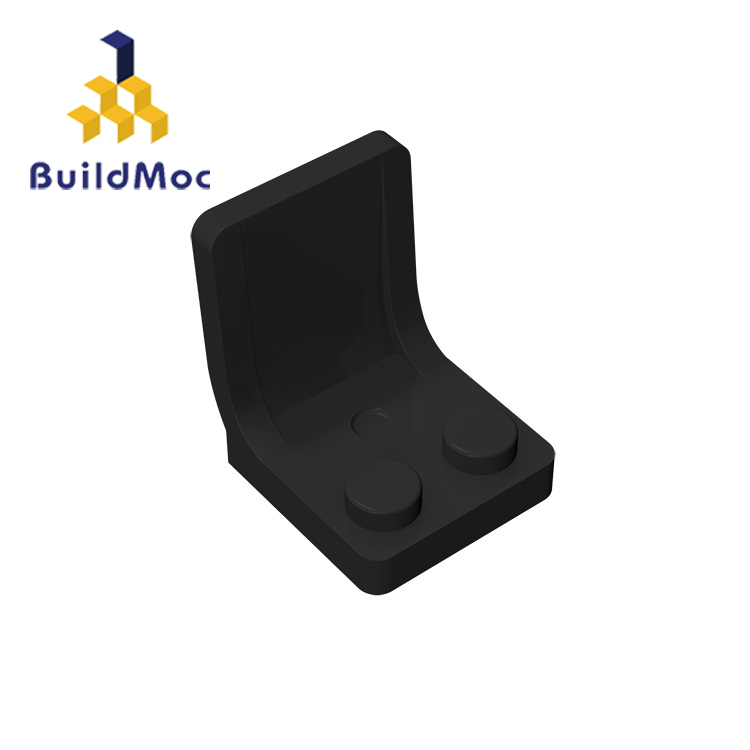 BuildMOC 4079 Minifigure Utensil Seat Chair 2x2 Thick For Building Blocks Parts DIY LOGO Educational Creative Gift Toys