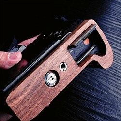 Orzech drewniane drewna ręcznie uchwyt płyta dla Fuji X H1 XH1 Fujifilm X H1