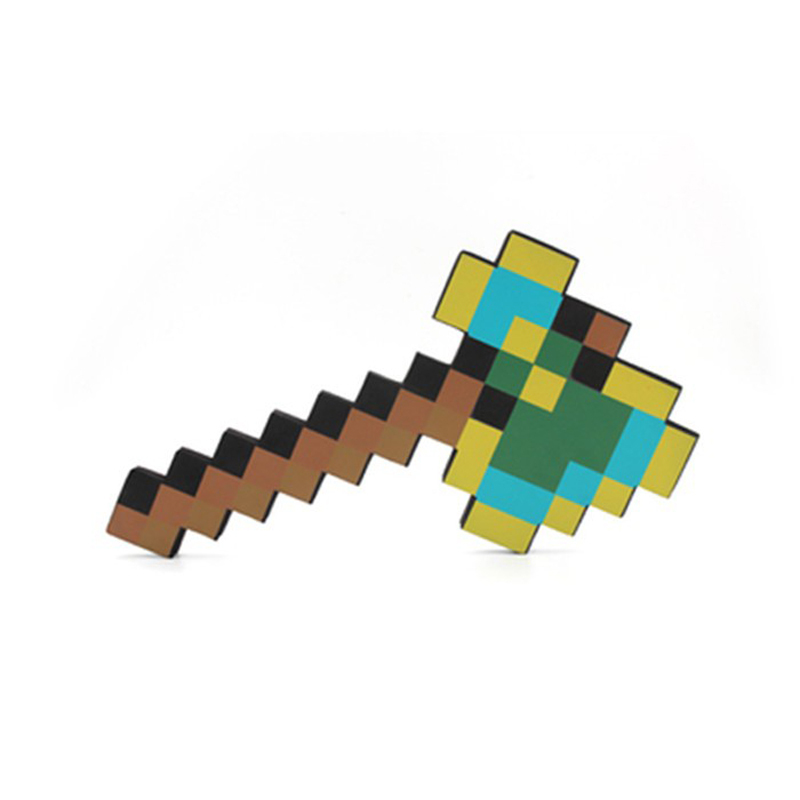 New Minecraft Foam Toys Multicolour Minecraft Axe Sword Pickaxe EVA Action Figures Toys Gifts for Kids Outdoor Fun new lps lovely toys animal cartoon cat dog action figures collection kids toys gifts