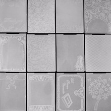 AZSG New arrival Various kinds of embossing plates Design DIY Paper Cutting Dies Scrapbooking Plastic Embossing Folder