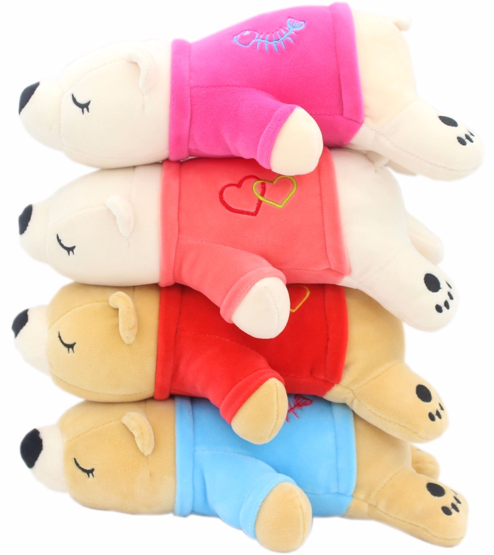JESONN Soft Plush Fyllda Djur Polar Bear Toys Mousepad för Kids 'Gifts, 30 CM