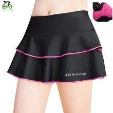 WOSAWE гелевые мягкие женские велосипедные шорты Нижнее белье юбка Уличная Спортивная юбка MTB дорожный велосипед велосипедная юбка длинные шорты
