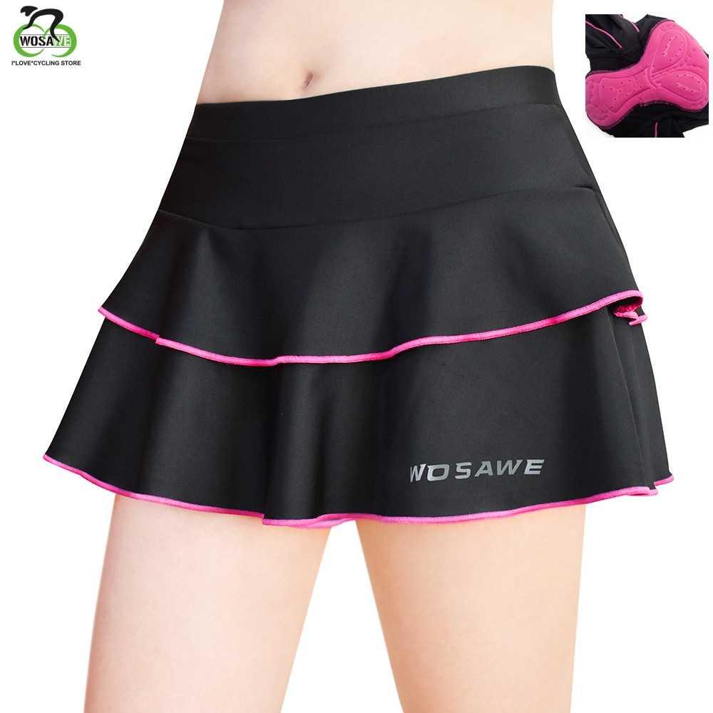 WOSAWE ג 'ל מרופד נשים של תחתוני מכנסי רכיבה חצאית חיצוני ספורט חצאית MTB כביש אופני אופניים חצאית Downhill מכנסיים
