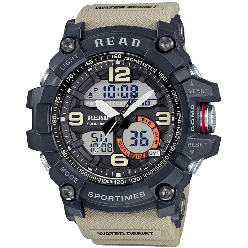 Men Watch With Luminous Display Multi-function Sports Quartz Watch Nylon Strap Wholesale RUILI Brand Hot