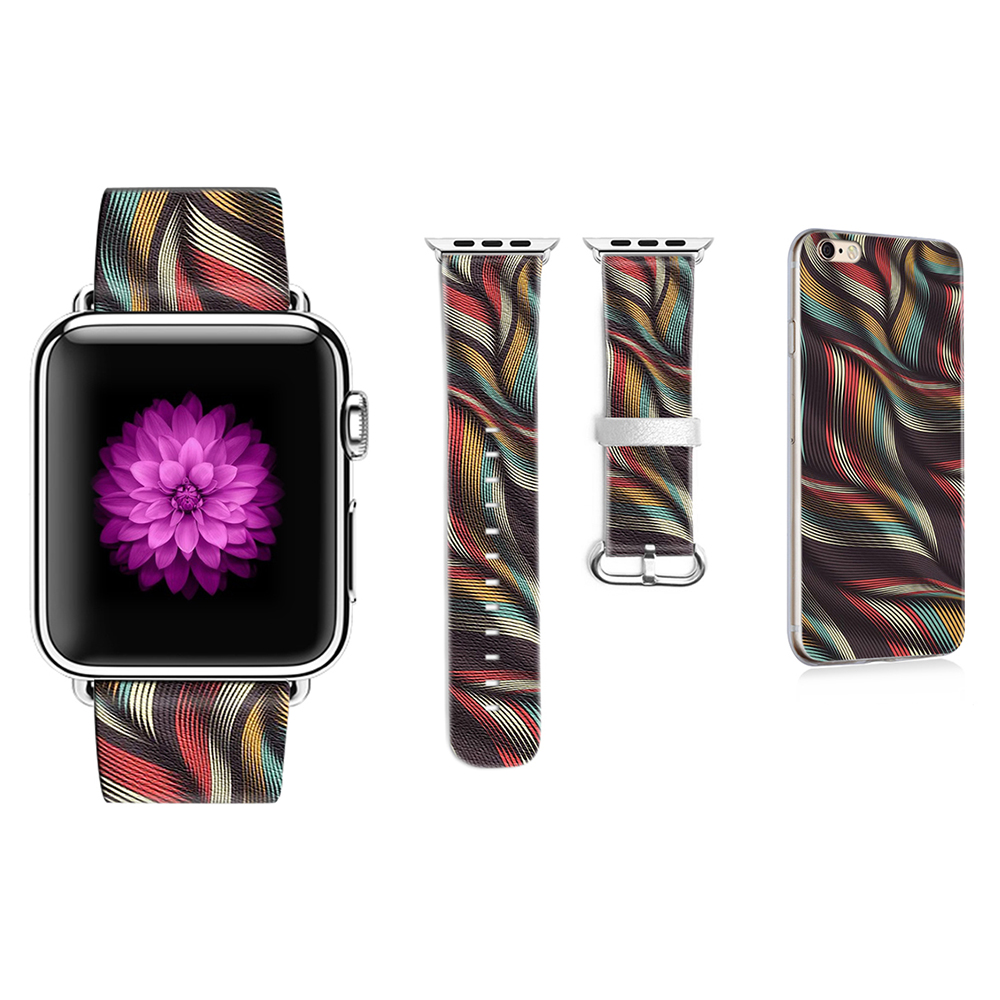 Original Abstract Art Lines Band for Apple Watch Band 38mm 42mm Leather for Iwatch Band Series 1 2 3 Gift for IPhone Case original abstract art lines band for apple watch band 38mm 42mm leather for iwatch band series 1 2 3 gift for iphone case