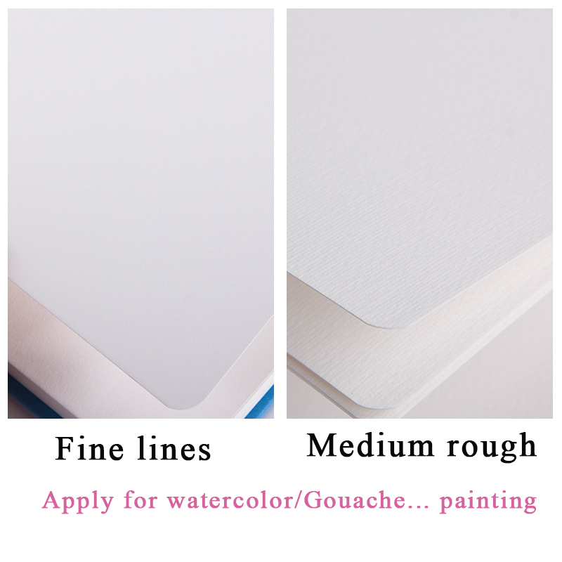 Eval 300g Professional Watercolor Paper 24Sheets Pocket Hand Painted Water-soluble Book For Artist Student Art Supplies