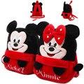 2017 encantadora Mickey Minnie bebé mochila mochila niñas bolsas del shool niños morral de la felpa mini bolsas para regalo de Navidad de Cumpleaños