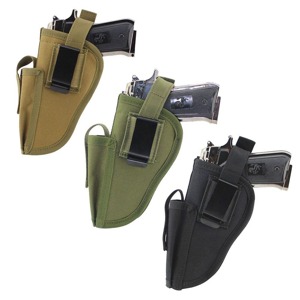 Tactical Waist Gun Holster With Magazine Slot EDC Right And Left Hand Side Pistol Hand Gun Holder Pouch
