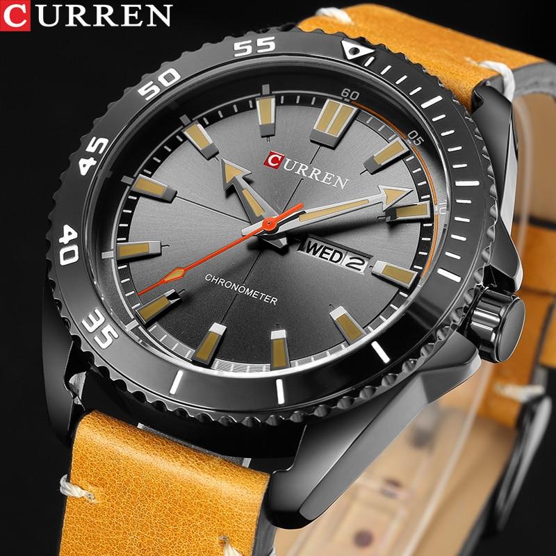 CURREN Sports Watches Men Luxury Brand Army Military Men Watches Clock Male Quartz Watch Relogio Masculino Horloges Mannen Saat