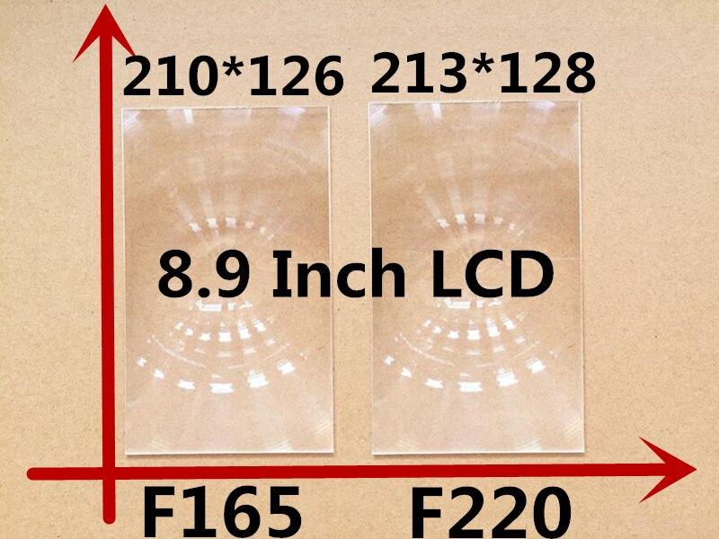 2db / set projektor lencséje téglalap optikai PMMA műanyag fresnel lencse professzionális 8,9 hüvelykes diy projektor készlet lencséhez