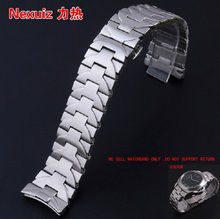 Ремешки для наручных часов, 24 мм Высокое качество Прочной Нержавеющей Стали Смотреть Группы Часы Ремешок Браслет Мужской Люксовый бренд механические часы аксессуары