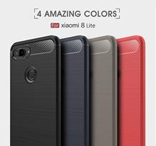 цена на Conelz For Xiaomi Mi 8 Lite Case Mi 8 Case  Shockproof Case Cover Wiredrawing Brushed Carbon Fiber TPU Cover Protective Shell