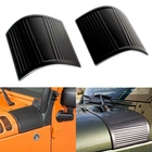 2pcs Black ABS Car Cowl Body Armor Decoration Protection Scratch-resistant Sticker for Jeep Wrangler JK Unlimited 2007-2015