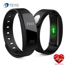 Teyo умный Браслет QS80 монитор сердечного ритма артериального давления пульсометр шагомер Pulseira iteligente smartband для IOS Android
