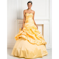 TS Couture Ball Gown Princess Sweetheart Floor Length Taffeta Formal Evening Dress With Beading Flower Criss