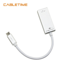 Cabletime USB C Mini DisplayPort Adapter USB 3.1 Type C to Mini DP Male to Female 4K 60Hz Converter Cable For Samsung HDTV N128