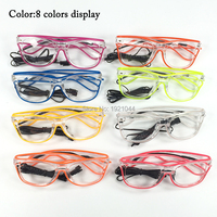 Cheap High Quality Wholesale Product 20pieces EL Wire Glasses Rave Party Glasses DIY Decor With DC