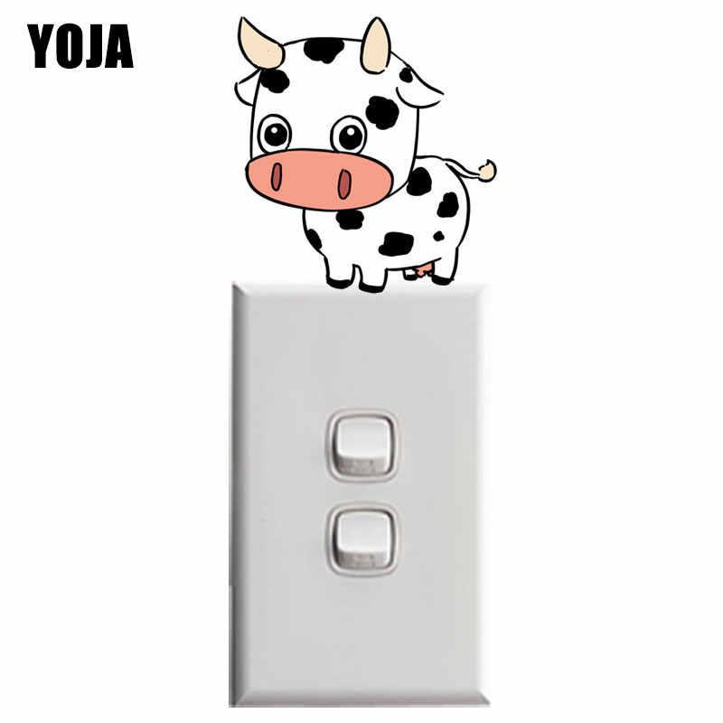 YOJA Sevimli El-boyalı Dana Derisi PVC Çocuk Odası Badroom Dekor Duvar Sticker Renkli Anahtarı 8SS0801