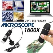 Mega piksel 1600X 8 LED dijital mikroskop USB endoskop kamera Microscopio büyüteç elektronik Stereo cımbız büyütme