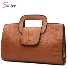 2019 Luxury Women Bags Designer PU Leather Bags Alligator Pattern High Quality Handbags