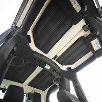 Chuang qian acessórios do carro hardtop som & isolamento térmico almofada de algodão kit 2 portas para jeep wrangler jk 2011 2017|Algodão de isolamento térmico e acústico| |  -