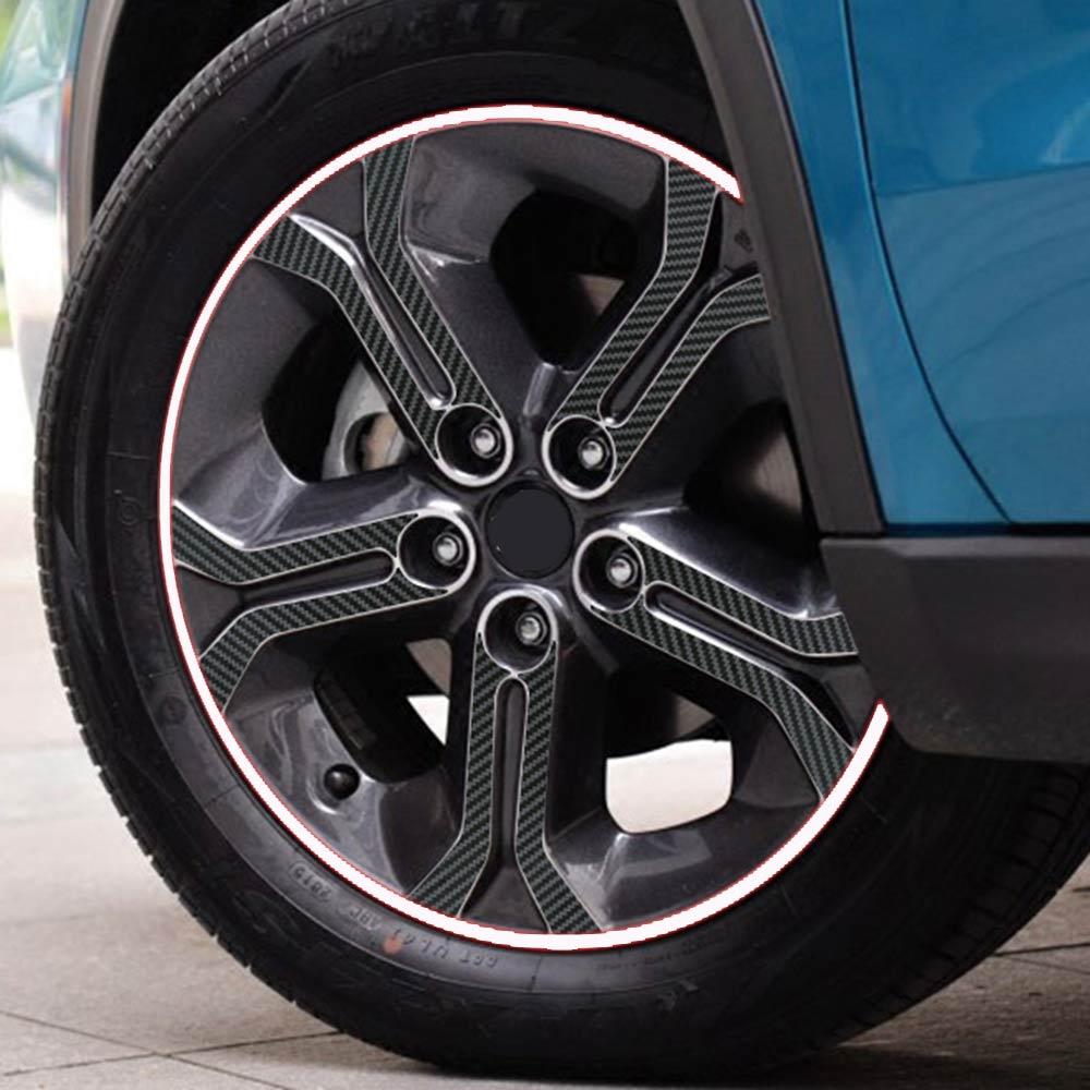 IMTFOO (215/55 R17) FIT FOR SUZUKI VITARA 2015 2016 2017 CARBON FIBER VINYL WHEEL RIM DECAL STICKERS CAR STYLING|carbon fiber vinyl|fiber vinyl|decal sticker - title=