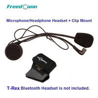 FreedConn T Rex Hard Wire Microphone Speaker Universal Clamp Mount For T Rex Motorcycle Bluetooth Helmet