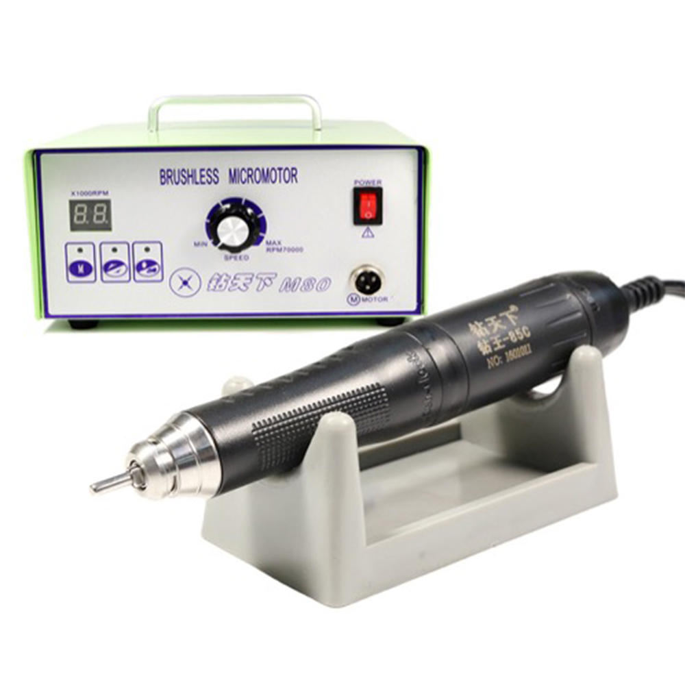 Dental Brushless Micro Motor Grinders Sets M80 Control Box+ 85C Handpiece 0-70,000RPM MAX TORQUE 950gf.cm lyncmed endodontic treatment wireless endo motor handpiece surgical brushless motor reciprocating cutting mode