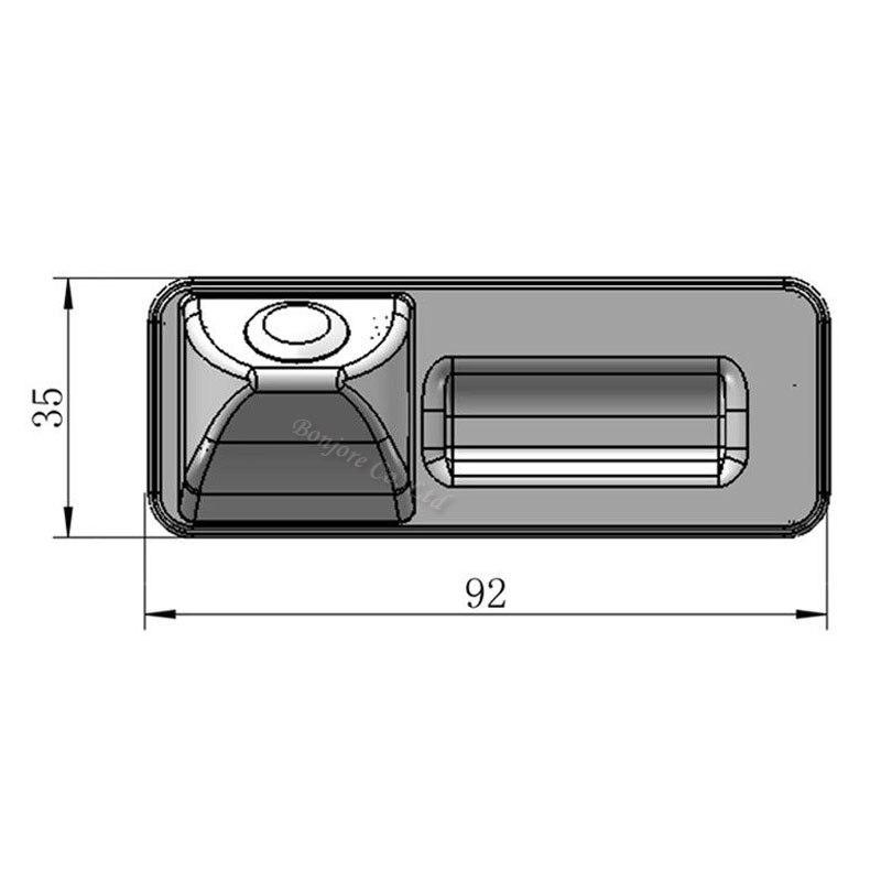 Камера заднего вида Koorinwoo HD CCD для парковки автомобиля, багажника с ручкой и кнопкой для Skoda/Octavia/Fabia/Superb/Roomster/Yeti/Audi/A1
