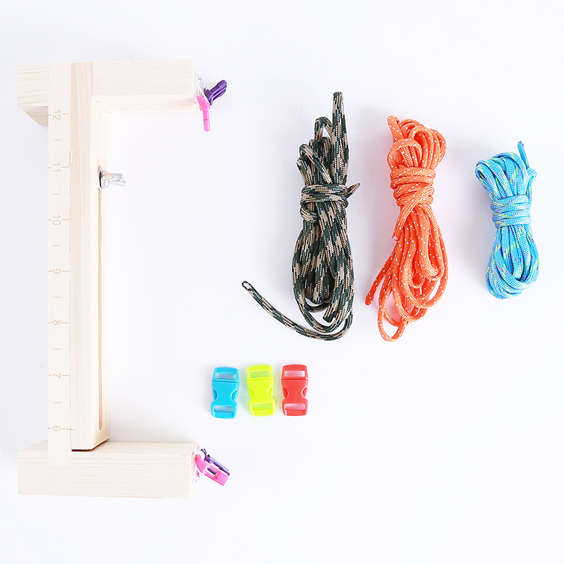 Sewing Tools & Accessory Straightforward Weaving Tools Diy Jig Solid Wood Bracelet Maker Knitting Tool Knot Braided Parachute Cord Tools Be Novel In Design