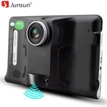 """Junsun Автомобильный GPS навигатор 7 """"Android навигация радар-детектор с видеорегистратор камеры автомобильный навигатор Европе или Навител Карта грузовик"""