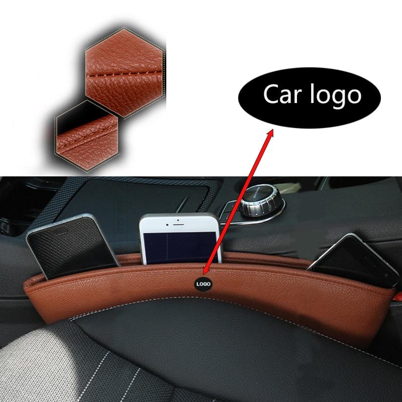 Leather Car Organizer Seat Box Gap Pocket For Cadillac CTS SRX ATS Lexus RX NX GS CT200H GS300 RX350 RX300 Saab 9-3 9-5 93
