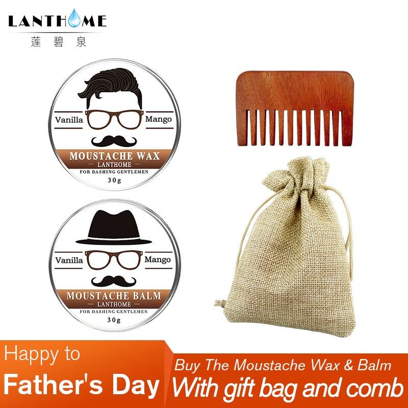 ⑦Día del Padre lanthome acondicionado suavizante barba set Cera ...