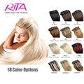 Клип наращивание волос в прямой 18 - 24 дюймов 100 г 8 шт. человеческие волосы длинные леди Wowe ролик в бразилии выдвижения волос бесплатная доставка