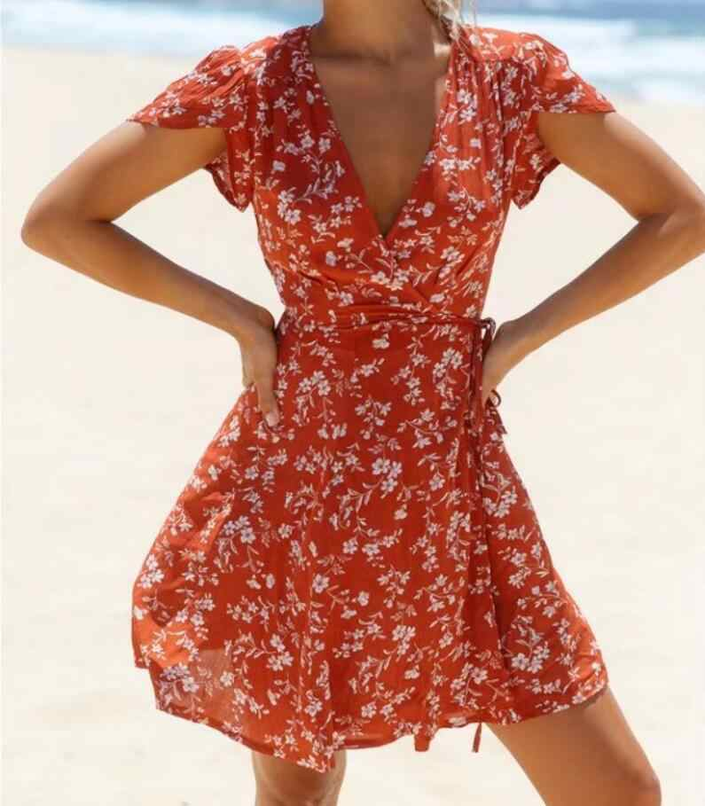 dbc7cd1195cb7 Detail Feedback Questions about AZULINA Floral Ruffles Wrap Dress ...