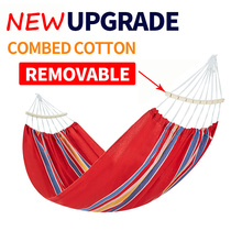 NEW High Quality Hammock 200x100cm single with Removable stick Garden swing Sleeping bed Outdoor Camping hanging chair