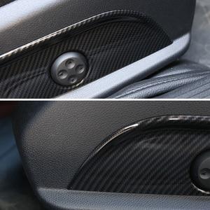 Image 4 - For Mercedes Benz E C GLC GLS Class W212 W205 Carbon Fiber Texture 2pcs Car Interior Seat Adjust Panel Switch Button Cover