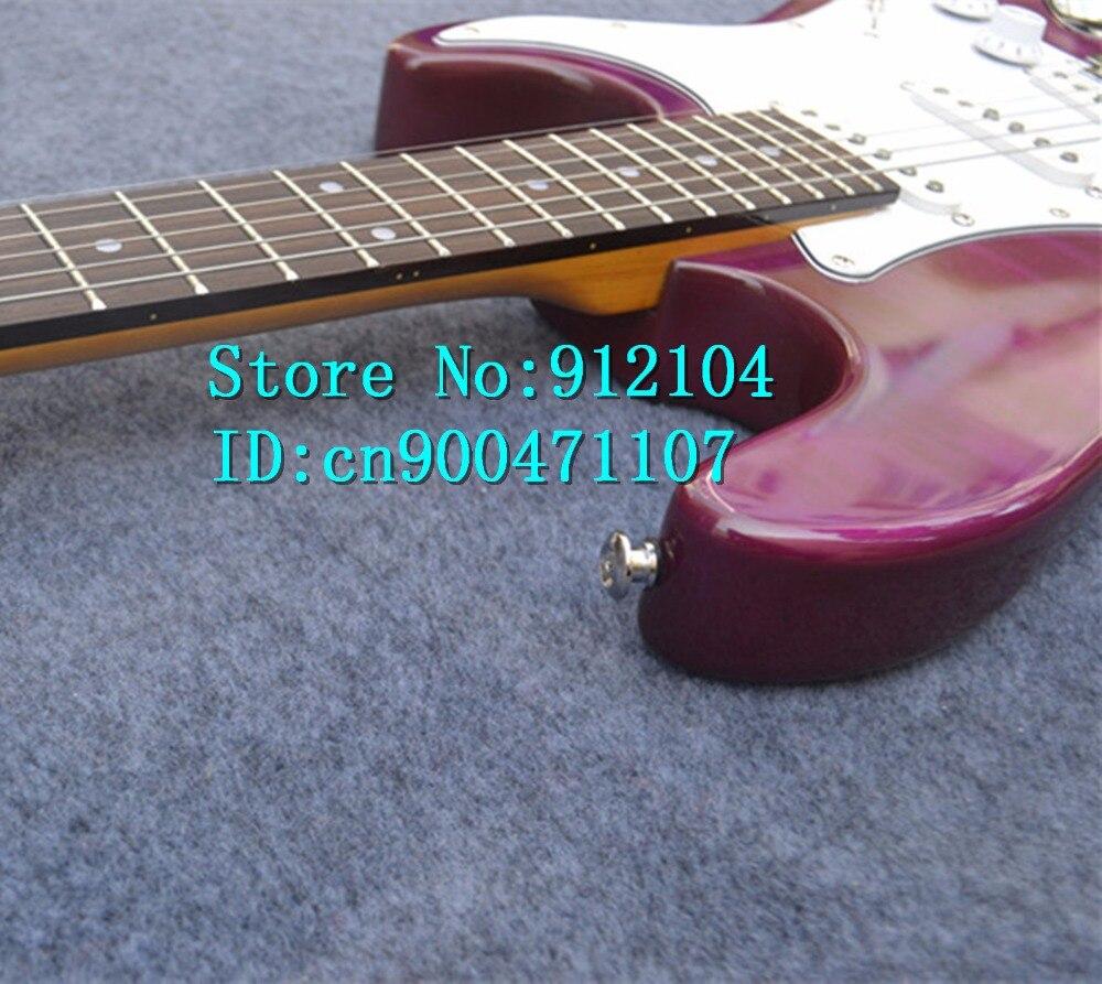 Nouvelle guitare électrique Big John Big John à ondes simples en violet avec corps en tilleul et pont wilk-son F-3093