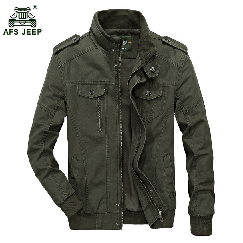 Afs Jeep Army Green Military Jacket Men Plus Size M 6XL Mens Jacket Large Size Casual Spring Jackets Coats Men Slim Fit h110