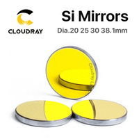 Si Mirror Dia. 19 20 25 30 38.1 mm Gold Plated Silicon for CO2 Laser Engraving Cutting Machine Free Shipping