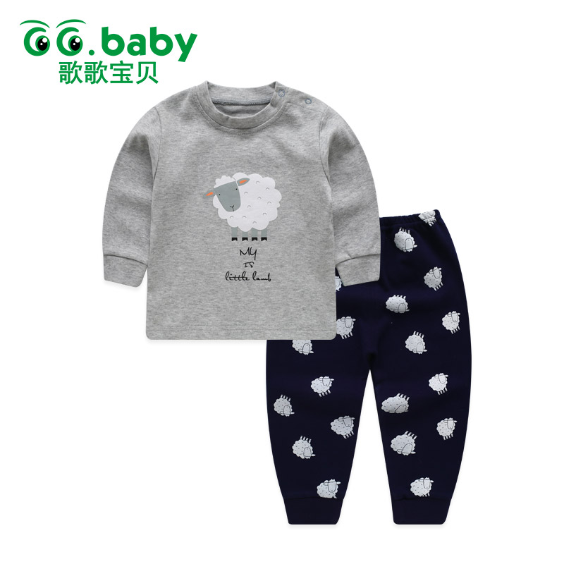 Animal Winter Baby Boy Set Kids Clothes For Girls Children Clothing Pants Sets Pajamas Long Sleeve Cute Suit Sleepwear Suits lovely spring pure cotton thomas and friends children clothing long sleeve tops pants for 2 7 years boy kids pajamas sleepwear