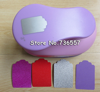 free shipping 3 inch hang tag design foam paper punch for scrapbooking handmade punch scrapbooking eva punch for DIY