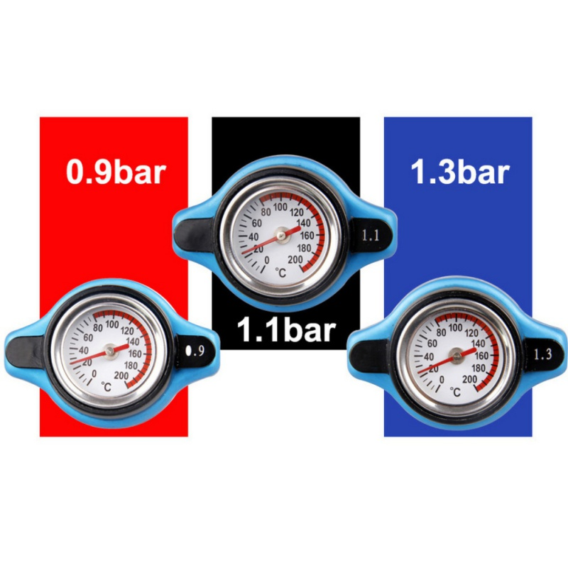 Universal Big Head Thermost Radiator Cap Cover Water Temperature Gauge1.1//1.3Bar