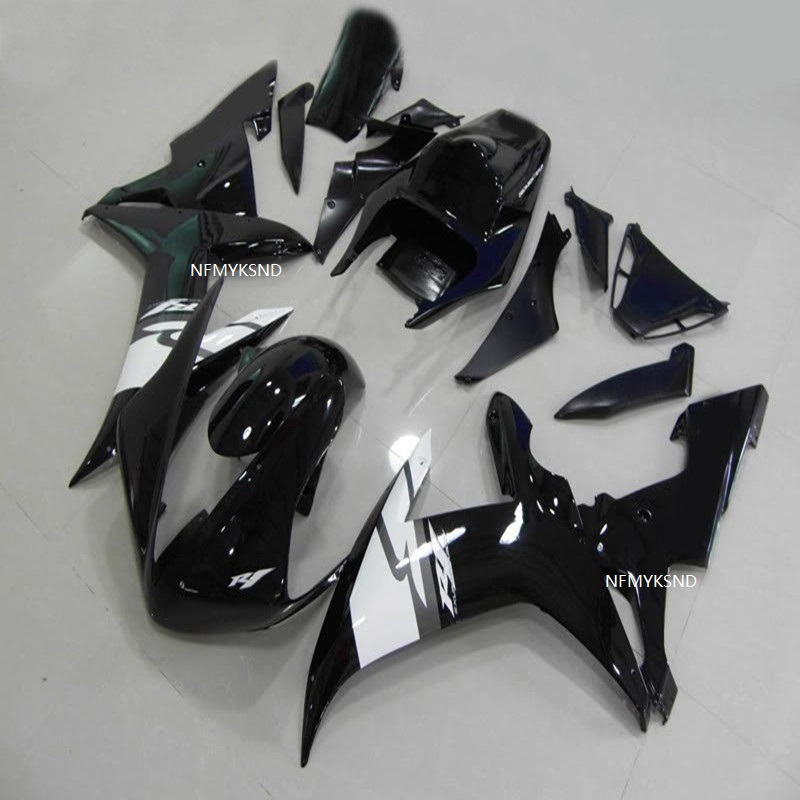 100% fit injection <font><b>fairings</b></font> for <font><b>Yamaha</b></font> YZF <font><b>R1</b></font> 2002 <font><b>2003</b></font> Abs matte black <font><b>fairing</b></font> kit YZFR1 02 03 Motorbike parts YZF R1000 image