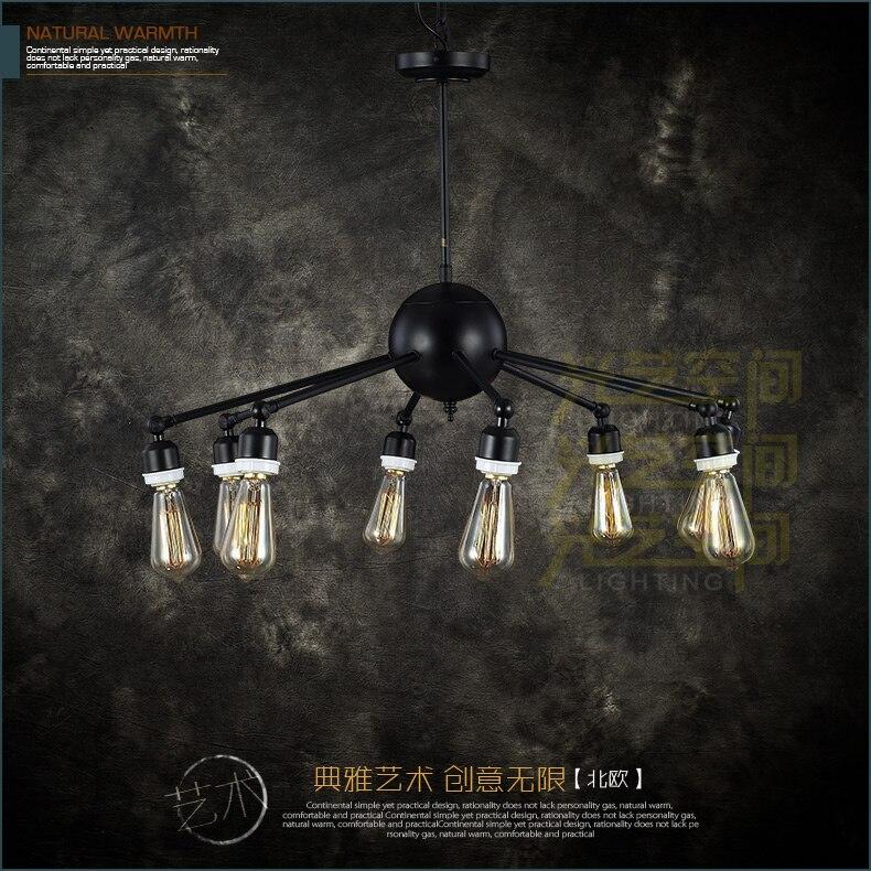 A1 LOFT industrial heavy black iron chandelier lamp four chandelier Cafe hall dedicated chandelier in foreign trade romantic retro minimalist loft industrial corridor chandelier fashion style heavy metal chandelier
