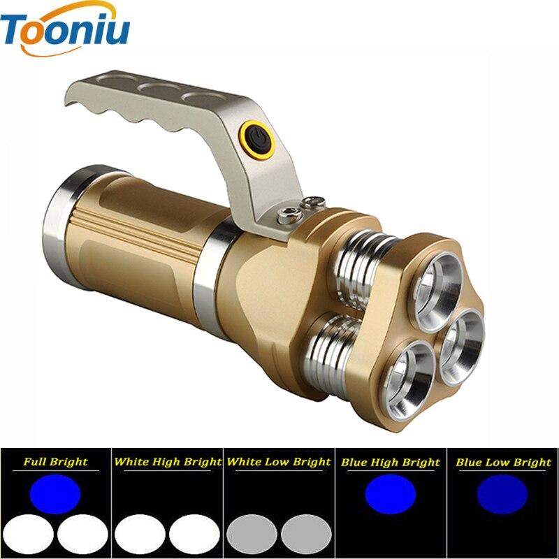 Jaudīgi portatīvie LED lukturīši 3 CREE Q5 mikroshēma 5 režīmi lāpas Jaudīgs kempings medību kalnrača lampa Lanteran Torche lukturītis