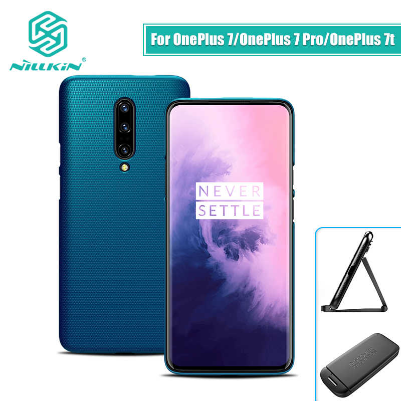 huge selection of 58bb8 d44ad OnePlus 7 case cover NILLKIN Frosted PC Matte hard back cover Gift Phone  Holder one plus For Oneplus 7 pro case oneplus 7t case