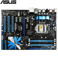 original Used motherboard ASUS P7H55 boards LGA 1156 DDR3 for i3 i5 i7 cpu 16GB USB2.0 H55 Desktop motherboard Free shipping