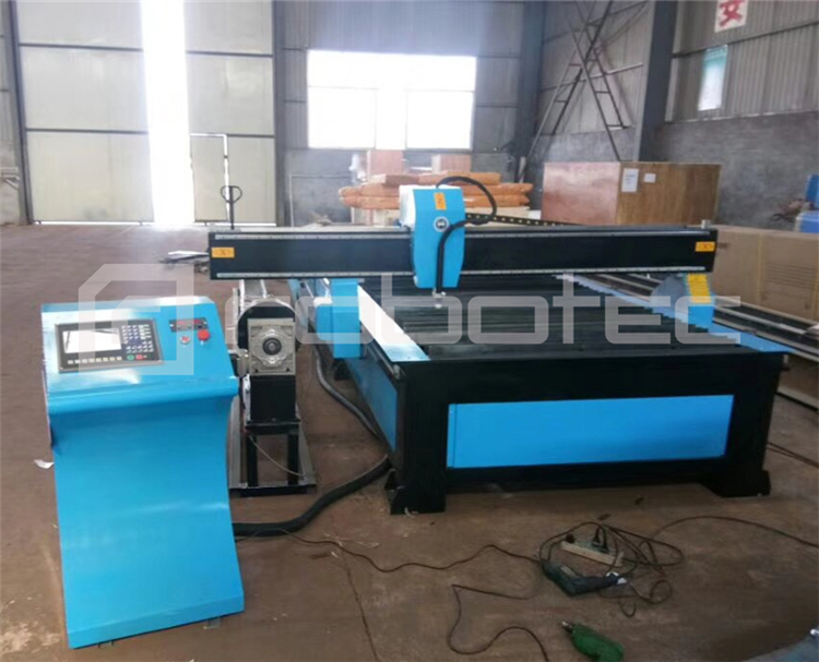 Cnc plasma cutter 63A HuaYuan power cnc plasma cutting machine with rotary device